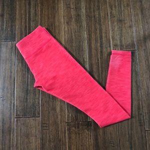 Lululemon Red Textured Wunder Under Leggings
